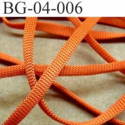 gallon cordon ruban a plat largeur 4 mm épaisseur 1 mm couleur orange  très solide prix au mètre