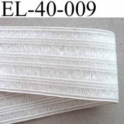 élastique plat fronceur  largeur 40 mm couleur blanc prix au mètre