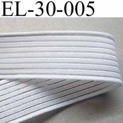 élastique plat fronceur largeur 30 mm couleur blanc prix au mètre