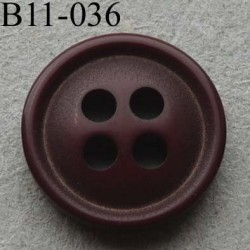 bouton diamètre 11 mm 4 trous couleur bordeaux diamètre 11 mm