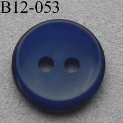 bouton diamètre 12 mm 2 trous couleur marine diamètre 12 mm