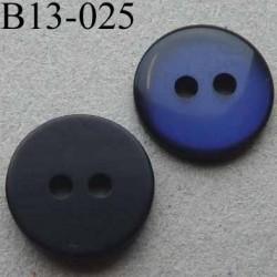 bouton diamètre 13 mm 2 trous couleur bleu nuit diamètre 13 mm
