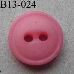 bouton diamètre 13 mm 2 trous couleur rose diamètre 13 mm