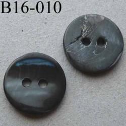bouton diamètre 16 mm 2 trous couleur anthracite effet granit diamètre 16 mm