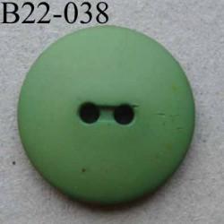 bouton diamètre 22 mm 2 trous couleur vert mat diamètre 22 mm