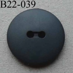 bouton diamètre 22 mm 2 trous couleur gris anthracite mat diamètre 22 mm