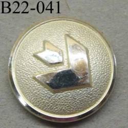 bouton 22 mm haut de gamme métal  couleur chromé accroche avec un anneau au dos 22 millimètres