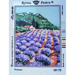 canevas 30X40 marque ROYAL PARIS thème provence dimension 30 centimètres par 40 centimètres 100 % coton
