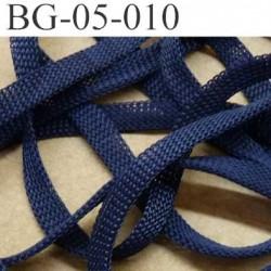 gallon cordon ruban a plat largeur 5 mm épaisseur 1.3 mm couleur bleu marine très solide prix au mètre
