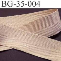 ganse  ruban renfort  biais ou sangle100% coton couleur beige largeur 3.5 cm superbe et souple et doux  solide prix au mètre
