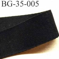 ganse  ruban renfort  biais ou sangle 100% coton couleur noir largeur 3.5 cm superbe et souple et doux  solide prix au mètre