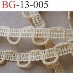 dentelle biais galon boutonnière galon 100 % coton made in france  largeur 13 mm couleur écru prix au mètre