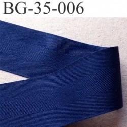 ganse ruban renfort biais galon100% coton couleur bleu largeur 3.5 cm superbe et souple et doux solide prix au mètre
