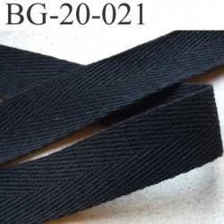 ganse renfort biais sergé coton galon couleur noir provient d'une collection haut de gamme largeur 20 mm prix au mètre