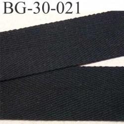 sangle ruban renfort  ganse plat 100% coton couleur noir largeur 3 cm épaisseur 1 mm  très solide prix au mètre