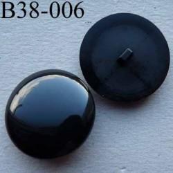 bouton 38 mm haut de gamme couleur noir accroche un anneau