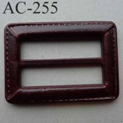 boucle anneau étrier simili cuir marron façon sellier 68 mm vendu à l'unité