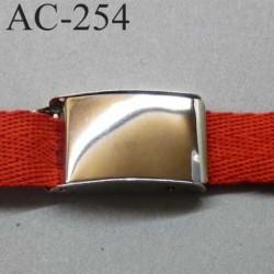 boucle métallique pour sangle de 25 mm de largeur couleur chromé