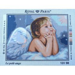 canevas 30X40 marque ROYAL PARIS thème le petit ange dimennsion 30 centimètres par 40 centimètres 100 % coton