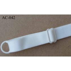 bretelle réglable de soutien gorge ivoire brillant longueur 33 cm largeur 15 mm vendu à l'unité