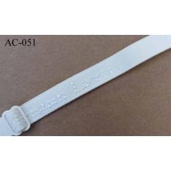 bretelle réglable droite de soutien gorge CHRISTIAN LACROIX longueur 30 cm largeur 10 mm ivoire haut de gamme