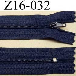 fermeture zip à glissière longueur 16 cm couleur bleu marine non séparable zip nylon largeur 2.5 cm largeur du zip 4 mm