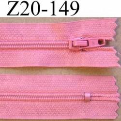fermeture zip à glissière longueur 20 cm couleur rose non séparable zip nylon largeur 2.5 cm largeur du zip 4 mm