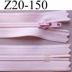 fermeture zip à glissière longueur 20 cm couleur rose pale non séparable zip nylon largeur 2.5 cm largeur du zip 4 mm