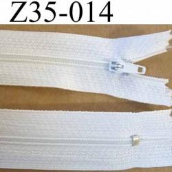 fermeture zip à glissière longueur 35 cm couleur blanc non séparable zip nylon largeur 2.5 cm