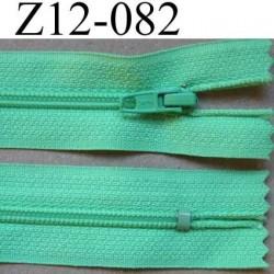 fermeture zip à glissière longueur 12 cm largeur 2.5 cm couleur vert non séparable glissière zip nylon largeur 4 mm