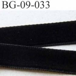 biais galon ruban en velour couleur noir souple et doux largeur 9 mm à 10 mm prix au mètre