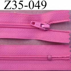 fermeture zip à glissière longueur 35 cm couleur rose violine non séparable largeur 2.5 cm glissière nylon largeur du zip 4 mm