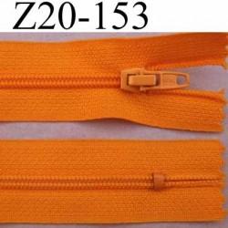 fermeture zip à glissière longueur 20 cm couleur orange non séparable zip nylon largeur 2.5 cm largeur du zip 4 mm