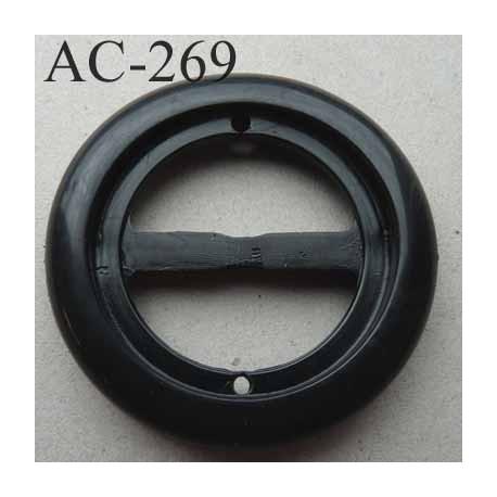 boucle étrier anneau plastique noir brillant diamètre extérieur 58 mm intérieur 33 mm 2éme choix