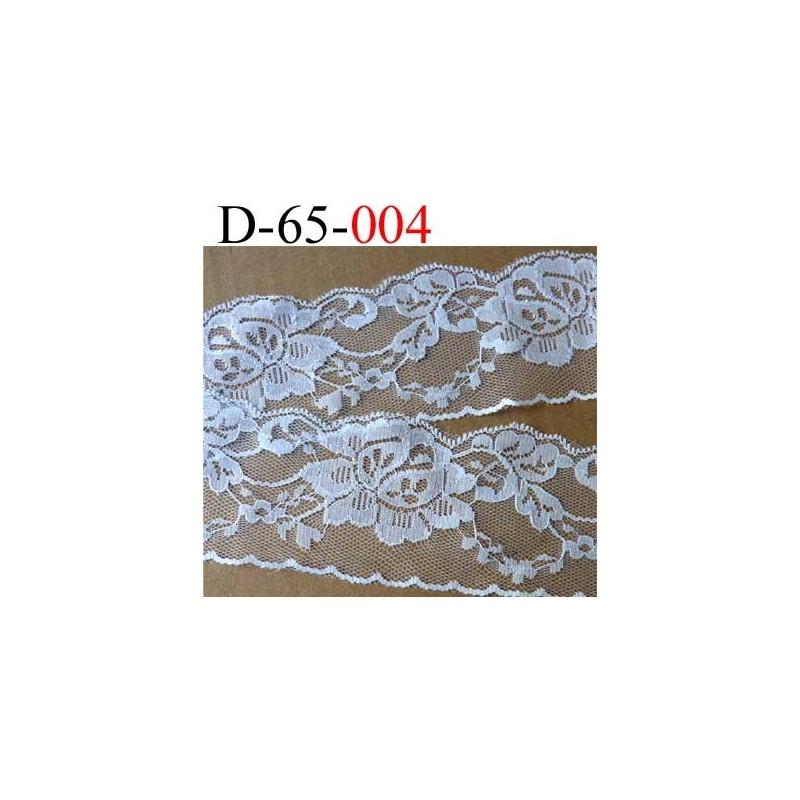 dentelle synth tique motif fleur couleur blanc largeur 65 mm prix au m tre mercerie extra. Black Bedroom Furniture Sets. Home Design Ideas