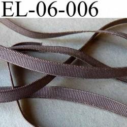 élastique plat élasthane largeur 6 mm couleur marron bronze brillant superbe prix au mètre