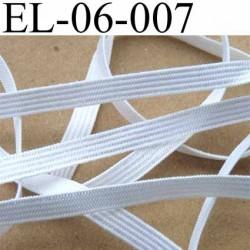 élastique  élasthane largeur 6 mm couleur blanc brillant superbe prix au mètre
