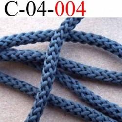 cordon ruban largeur diamètre 4 mm couleur  gris bleuté vendu au mètre