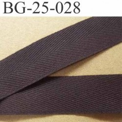 biais sergé 100 % coton galon couleur marron largeur 25 mm prix au mètre