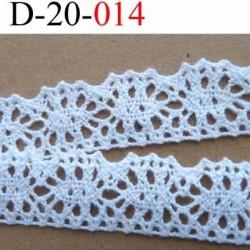 dentelle crochet ancienne 100 % coton blanc  largeur 20 mm prix au mètre
