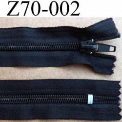 fermeture zip à glissière longueur 70 cm couleur noir non séparable zip nylon largeur 3,2 cm largeur de la glissière 6 mm