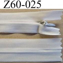 fermeture zip invisible longueur 60 cm couleur crème non séparable largeur 2.5 cm glissière nylon largeur 4 mm
