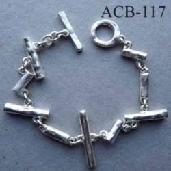 bracelet estampillé Biche de Bere 2éme choix métal argenté bijoux collector