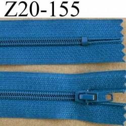 fermeture zip à glissière longueur 20 cm couleur bleu non séparable zip nylon largeur 2.5 cm largeur du zip 4 mm