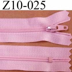 fermeture zip de marque à glissière longueur 10 cm couleur rose non séparable largeur 2.5 cm glissière nylon largeur du zip 4 mm