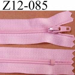 fermeture zip de marque à glissière longueur 12 cm couleur rose non séparable largeur 2.5 cm glissière nylon largeur du zip 4 mm
