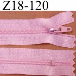 fermeture zip de marque à glissière longueur 18 cm couleur rose non séparable largeur 2.5 cm glissière nylon largeur du zip 4 mm