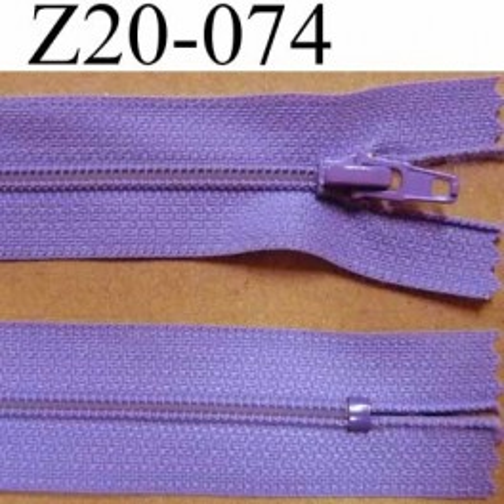fermeture zip longueur 20 cm couleur parme lilas violine non s parable zip nylon largeur 2 5 cm. Black Bedroom Furniture Sets. Home Design Ideas