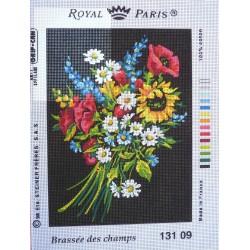canevas 30X40 marque ROYAL PARIS thème brassée des champs dimennsion 30 centimètres par 40 centimètres 100 % coton