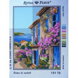 canevas 30X40 marque ROYAL PARIS thème sous le soleil dimennsion 30 centimètres par 40 centimètres 100 % coton
